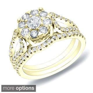 Auriya 14k Gold 1ct TDW Diamond Bridal Ring Set (H-I, SI1-SI2)