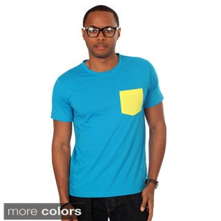 Oxymoron Men's Contrast Pocket Solid Tee