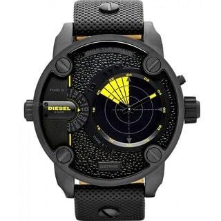 Diesel Men's 'Little Daddy' Black Dual Time Watch