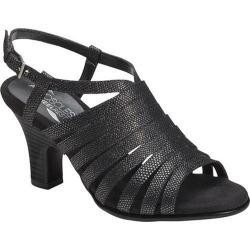 Women's Aerosoles Energinic Sandal Black Silver Fabric