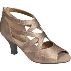 Women's Aerosoles Halifax Heel Bronze Combo Synthetic