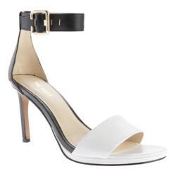Women's Nine West Meantobe Sandal Black/White Leather