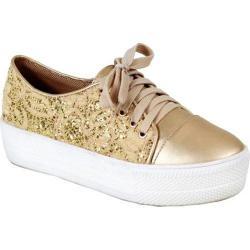 Women's Reneeze Ola-1 Glitter Platform Sneaker Champagne Synthetic