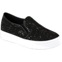 Women's Reneeze Olga-3 Glitter Slip On Sneaker Black Synthetic