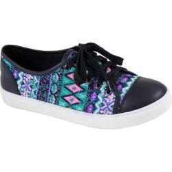 Women's Reneeze Oma-1 Tribal Lace Up Sneaker Black Synthetic