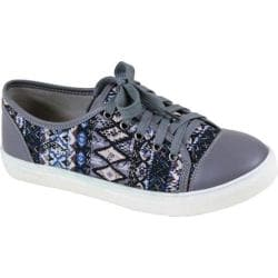 Women's Reneeze Oma-1 Tribal Lace Up Sneaker Grey Synthetic