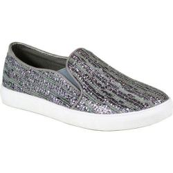 Women's Reneeze Oma-3 Glitter Slip On Sneaker Grey Synthetic