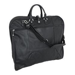 Mercury Luggage Sondrio Black Leather Garment Bag