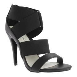 Women's Michael Antonio Jurce Sandal Solid Black Polyurethane/Elastic
