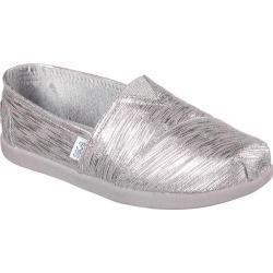 Girls' Skechers BOBS World Sparkle Plush Gray/Silver