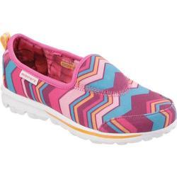 Girls' Skechers GOwalk Hypnotix Slip-on Sneaker Hot Pink/Multi
