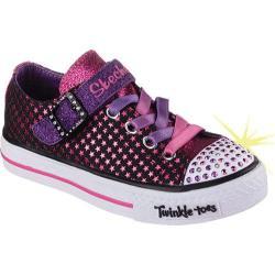 Girls' Skechers Twinkle Toes Shuffles Mysticals Sneaker Black/Pink
