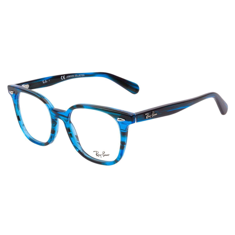 Glasses Frames Blue : Ray-Ban 5299 5377 Striped Blue Prescription Eyeglasses ...