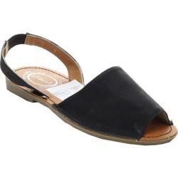Women's Beston Clori-01 Slingback Sandal Black Faux Leather
