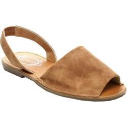 Women's Beston Clori-01 Slingback Sandal Camel Faux Leather