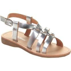 Girls' Beston Hollow Sandal Silver Faux Leather