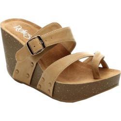 Women's Beston Mara-01 Wedge Sandal Camel Faux Leather