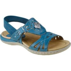 Women's Earth Guava Shadow Blue Full Grain Leather