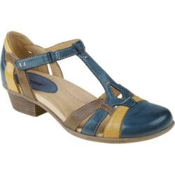 Women's Earth Luck Dark Blue Multi Full Grain Leather