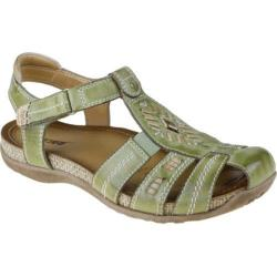 Women's Earth Ramie Apple Green Full Grain Leather