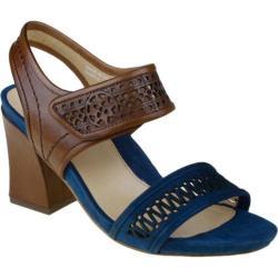 Women's Earthies Asola Deep Blue Multi Full Grain Leather/Suede