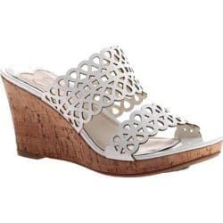 Women's Madeline Cactus Wedge Sandal White
