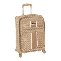 Nine West Sign Me Up Driftwood/Cream 20-inch Expandable Carry On Spinner Upright