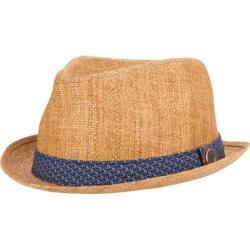 Men's Ben Sherman Straw with Patterned Band Trilby Natural