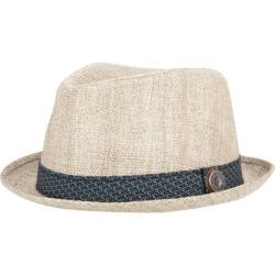 Men's Ben Sherman Straw with Patterned Band Trilby Natural Light