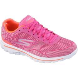 Women's Skechers GOwalk 2 Fuse Walking Shoe Hot Pink/Orange