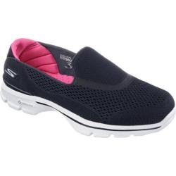 Women's Skechers GOwalk 3 Strike Walking Shoe Navy/Pink