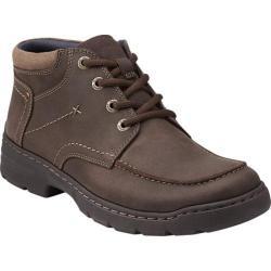 Men's Clarks Newbern Up Dark Brown Leather