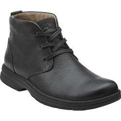 Men's Clarks Senner Ave Black Tumbled Leather