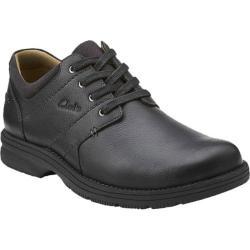 Men's Clarks Senner Place Black Tumbled Leather