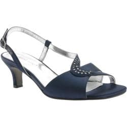 Women's David Tate Crescent Navy Satin