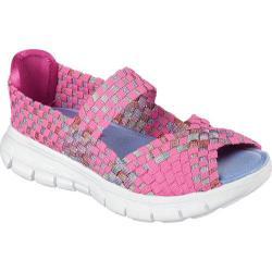 Girls' Skechers Synergy Sunday Stroll Woven Mary Jane Neon Pink/Multi