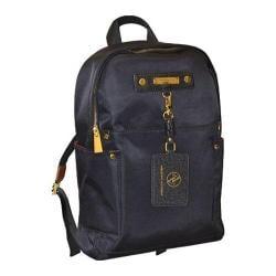 Women's Adrienne Vittadini 15in High Density Nylon Fashion Backpack Black