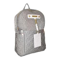 Women's Adrienne Vittadini 15in Quilted Nylon Fashion Backpack Dark Clay
