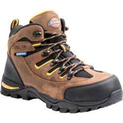 Dickies Men's Boots Sierra Steel Toe Lace Up Brown Full Grain Leather/Nylon