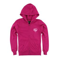 Girls' Metal Mulisha Lovely Roses Zip Hoodie Hot Pink