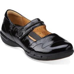 Women's Clarks Un.Helma Black Patent Leather