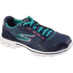 Women's Skechers GOwalk 3 Compete Sneaker Navy/Aqua
