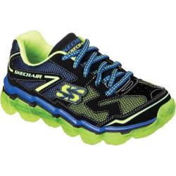 Boys' Skechers Skech-Air Fly Back Sneaker Black/Blue/Lime