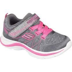 Girls' Skechers Swift Kicks Sneaker Charcoal/Neon Pink
