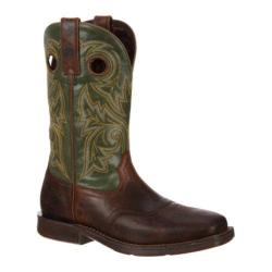 Durango Men's Boots DDB0055 12in Saddle Rebel Brown/Green Leather