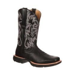 Men's Durango Boot DDB0057 12in Western Ramped Up Rebel Black Leather