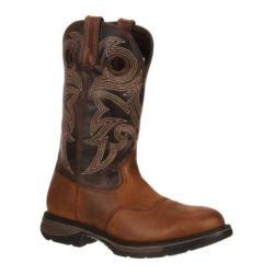 Men's Durango Boot DDB0064 12in Western Workin' Rebel Waterproof Brown Leather