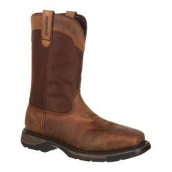 Durango Men's Boots Pull-On Workin' Rebel Steel Toe Brown Leather lon