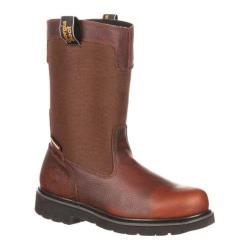 Men's Georgia Boot GB00036 10in Wellington Glennville Brown Leather Cordura