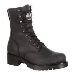 Men's Georgia Boot GB00047 8in Logger Black Leather